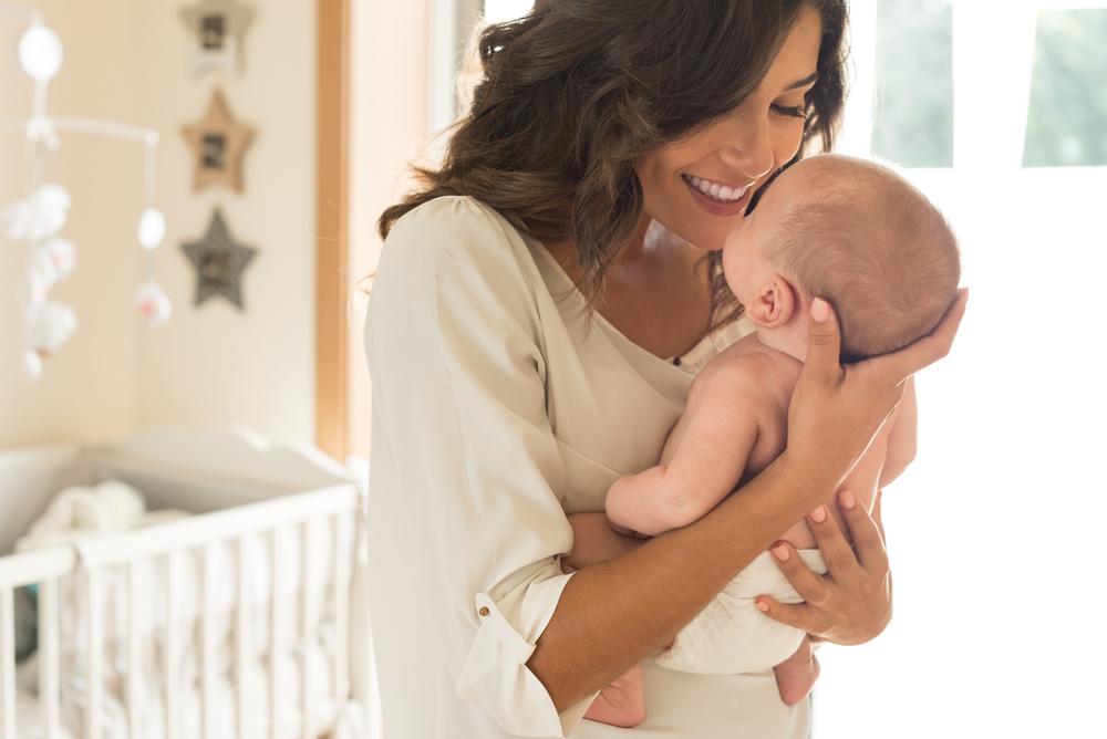 baby in cozy nursery